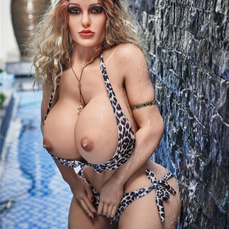 Mia : 140cm blonde European style O cup TPE adult sex dolls